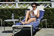 Rumer Willis | Swimsuit Candids poolside in LA | April 20 | 9 pics