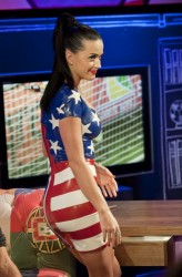 Katy Perry - Painted On Skirt/Sexy Legs/Oral Skills - James Corden's World Cup Live June 12 2010