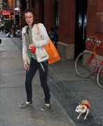 Juliette Lewis leaving her hotel with her dog in New York City April 23-2015 x18