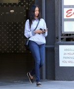 Zoe Saldana Stops to pick up some food to go whileout in Hollywood April 26-2015 x10