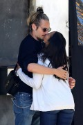 Zoe Saldana and Marco Perego share a kiss after lunch April 28-2015 x7