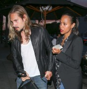 Zoe Saldana Marco Perego were spotted at Craig's in West Hollywood April 30-2015 x15