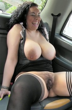 Faketaxi naked woman in london taxi swallows drivers spunk 7