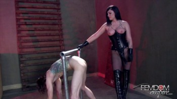 Domination fireplace torture
